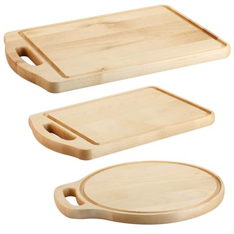 Set 3 taglieri da cucina con manico in legno d´acero - Tom Press