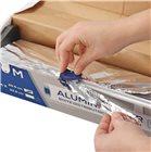 Taglia pellicola trasparente/alluminio rimovibile per rotolo 30 cm