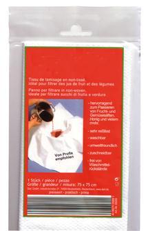 Filtro in tessuto per succo 75x75 cm