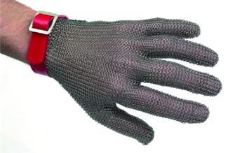 Guanto in maglia inox tg. 10