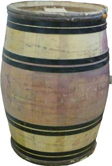 Barile in quercia, cerchiata, castagno d´occasione 225 litri