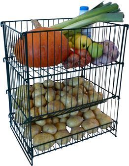 Gabbia porta patate e verdura. Capac. 50 kg
