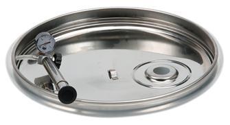 Coperchio con guarnizione pneumatica per cisterna