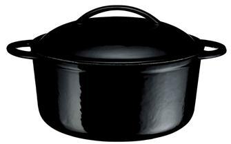 Cocotte in ghisa tonda nera 23 cm, cap. 3 l.