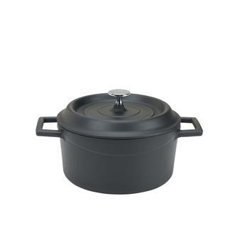 Cocotte rotonda 20 cm color nero opaco