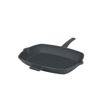 Padella per grill 26x32 cm, in ghisa, colore nero