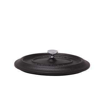 Coperchio ovale color nero opaco in ghisa