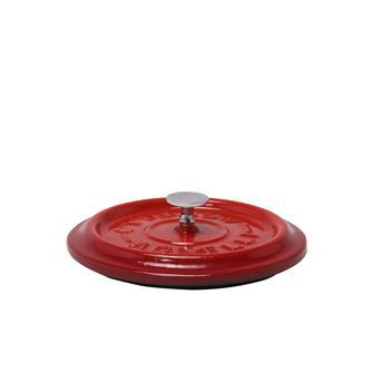 Coperchio rotondo color rosso in ghisa