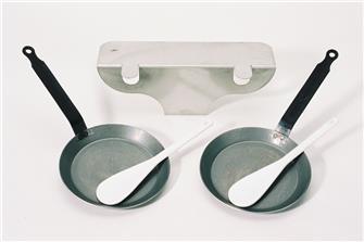 Accessorio con piattini per raclette 2 rampe