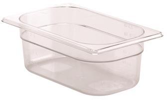 Bacinella per alimenti senza BPA GN 1/4 h. 10 cm copoliestere