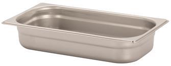 Bacinella per alimenti inox GN 1/3 h. 6,5 cm EN-63