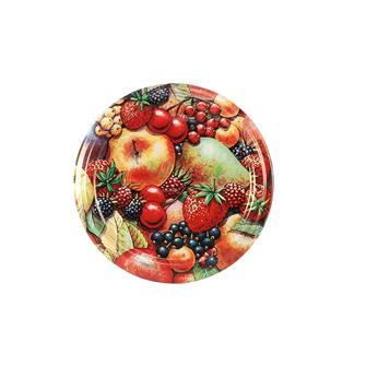 Capsule twist-off (tappi) con decorazione opaca di frutti , diam. 63 mm (10 pz.)