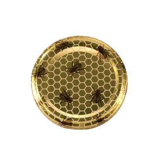 Capsule (tappi) twist-off fantasia miele-api. Diam. 63 mm (10 pz.)