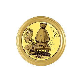 Capsule (tappi) twist-off per miele. Decorazione alveare-paglia. Diam.82 mm. (10 pz.)