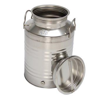 Bidone inox per olio, 25 l