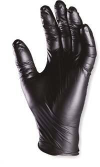 Guanti neri in nitrile non polverosi (100 pz)
