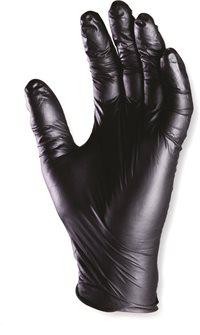 Guanti neri in nitrile senza polveri TG. 9 (o L) 100 pz.