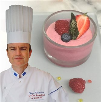 Mousse alle fragole e lamponi dello chef Tenailleau