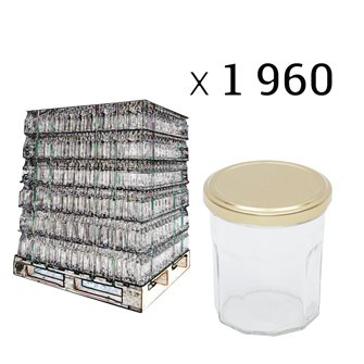 Bancale di vasetti per marmellata da 370 g.