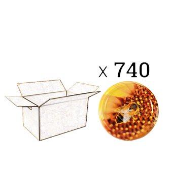 Coperchi twist-off ape su fiori diam. 82 mm (740 pezzi)