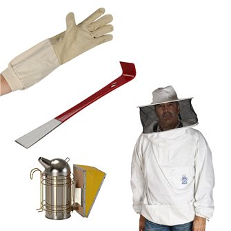 Camicia apicoltore con cappello e velo XL