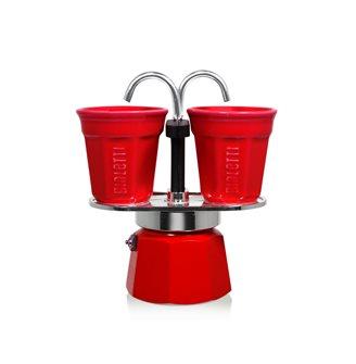 Caffettiera fontana 2 tazze rossa