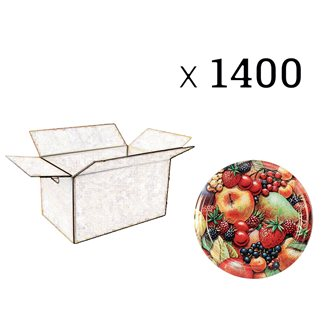 Capsule Twist-off per confetture disegno frutta diam. 63 mm (1400 pz)