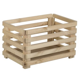 Cassetta in legno pino massello 58 cm