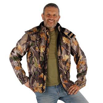 Giaccone uomo camouflage foglia  Bartavel Buffalo softshell XXL