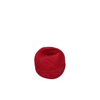 Gomitolo 100 g di spago in lino liscio rosso per salumi