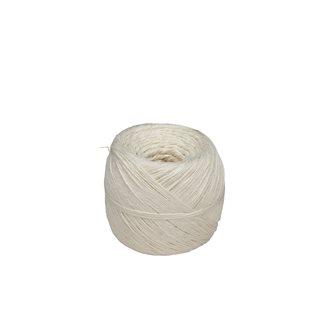 Gomitolo 200 g di spago in lino grezzo bianco per salumi