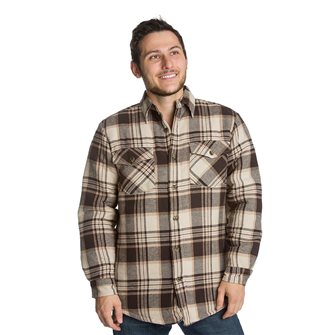 Camicia/gilet uomo imbottita marrone Bartavel Ottawa L
