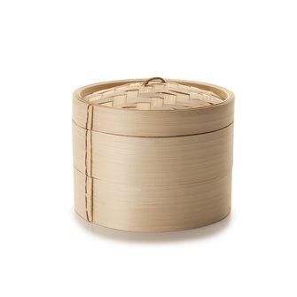 Pentola a vapore tradizionale in bambù da 10 cm di diametro