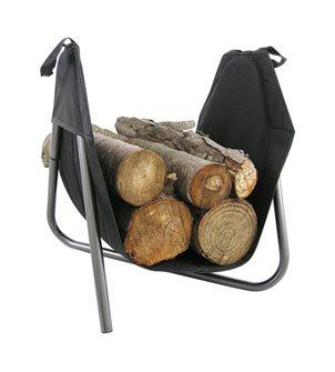 Cestino mobile per legna da interno su supporto metallo