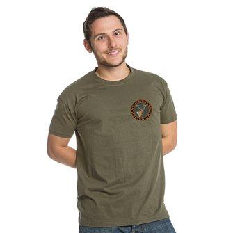 T-shirt kaki Bartavel Nature caccia toppa cervo XL