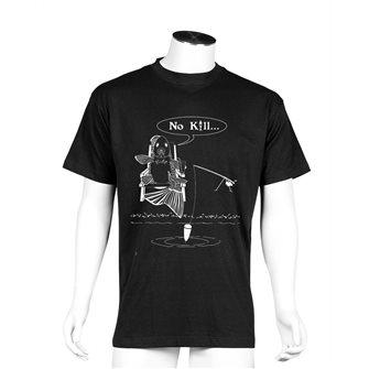 T-shirt nera Bartavel Nature humour pesca No kill XL