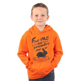 Felpa arancione con cappuccio bambino 6 anni Bartavel umoristica