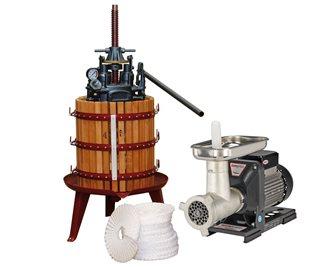 Set per la produzione di olio con torchio idraulico a vite centrale