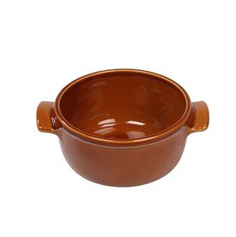 Terrina tonda 16 cm ceramica marrone miele Emile Henry ESCLUSIVA
