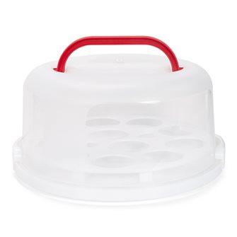 Scatola 30 cm riutilizzabile per trasportare torte e cupcakes