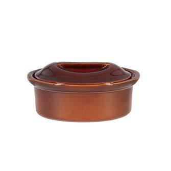 Terrina ovale in ceramica 23 cm Emile Henry 1,1 litri marrone cannella
