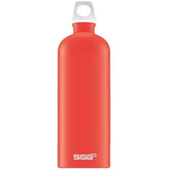 Borraccia alluminio rosso chiaro 1 l riutilizzabile Lucid Scarlet Touch Sigg