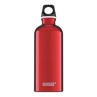 Borraccia alluminio rossa 0,6 l riutilizzabile Traveller Red Sigg
