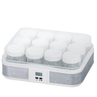 Yogurtiera modello grande 12 vasetti timer/arresto automatico per 2,5 litri