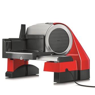 Affettatrice elettrica 170 mm rosso lama 30 mm con affettaverdure