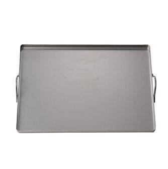 Plaque en acier rectangulaire 32x42 cm avec poignées tous feux four et barbecue