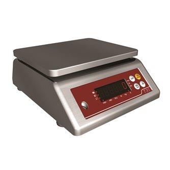 Bilancia compatta con piatto inox portata da 1 gr a 6 kg
