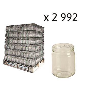Vaso vetro bordo protetto 228 ml bancale da 3264 pz.