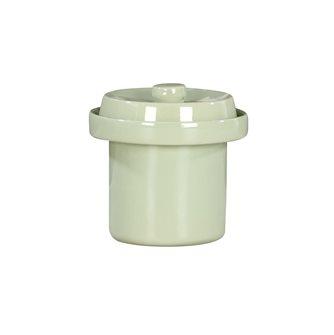 Vaso per crauti /lattofermentazione 1 litro colore verde acqua