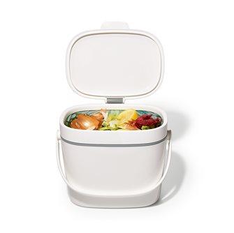 Bidone per compost bianco 6,6 lt